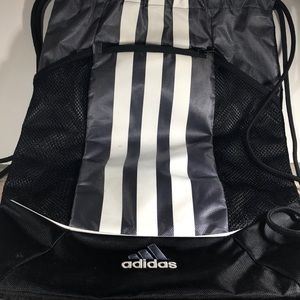 Adidas string backpack in used condition